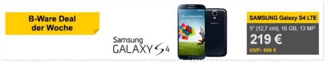 Samsung Galaxy S4 gebraucht als Demoware