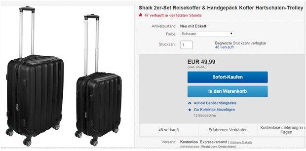 Shaik 4-Rollen-Trolleys für 49,99 €