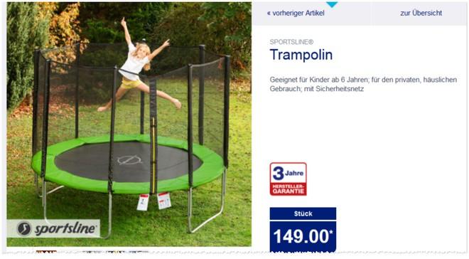 Sportsline Trampolin