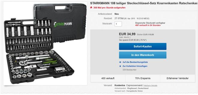 Starkmann Werkzeugkoffer Angebot
