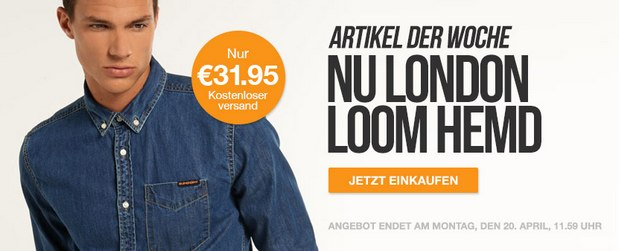 Superdry Jeanshemd Nu London Loom im Outlet für 31,95 €