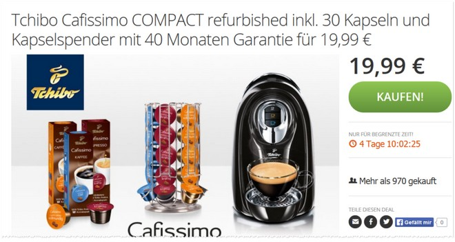 Tchibo Cafissimo Compact Gebraucht-Angebot