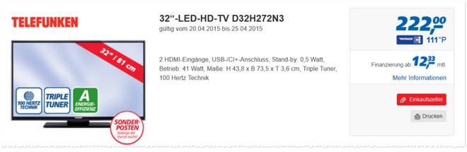 Telefunken D32H272N3