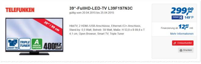 Telefunken L39F197N3C