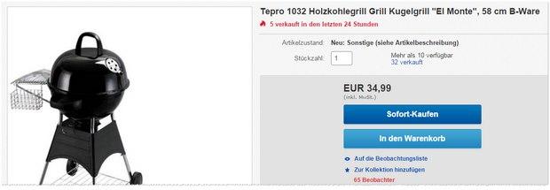 Tepro 1032 El Monte Grill