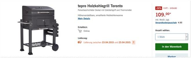 Tepro Toronto Grill als LIDL Angebot