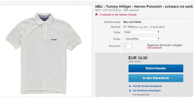 Tommy Hilfiger Polos für 35 €