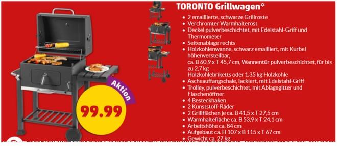 Toronto Grillwagen bei Penny als Angebot