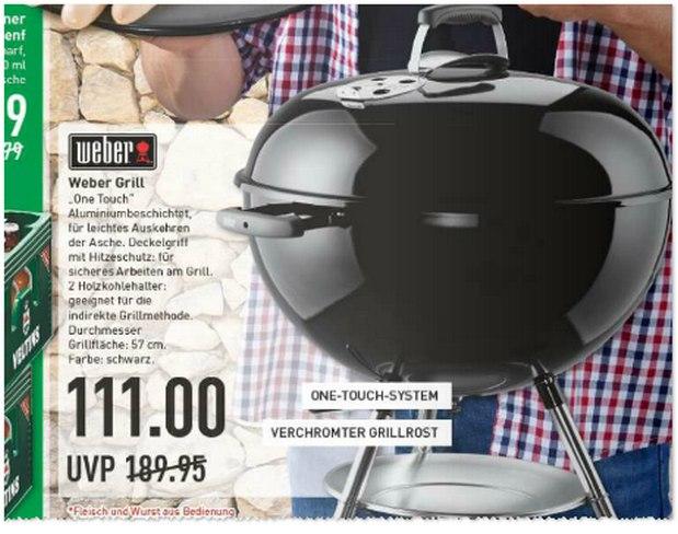 Weber Grill One Touch bei Marktkauf für 111 Euro