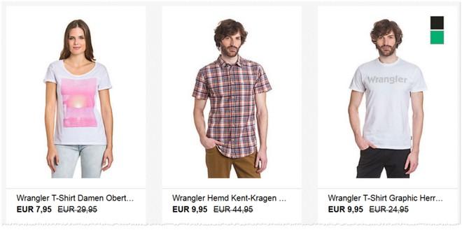 Wrangler-Hemden und T-Shirts günstig kaufen