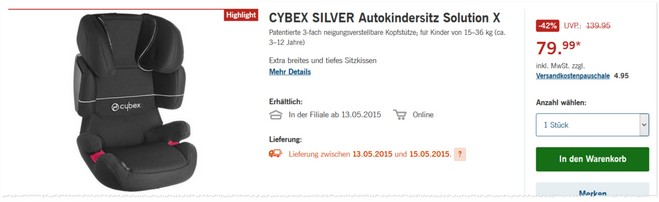 cybex silver solution x lidl angebot ab 13. Black Bedroom Furniture Sets. Home Design Ideas