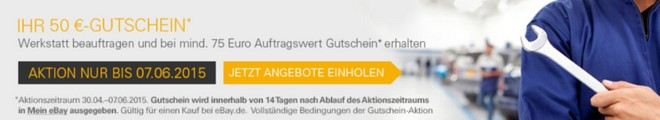 eBay Werkstatt Gutschein