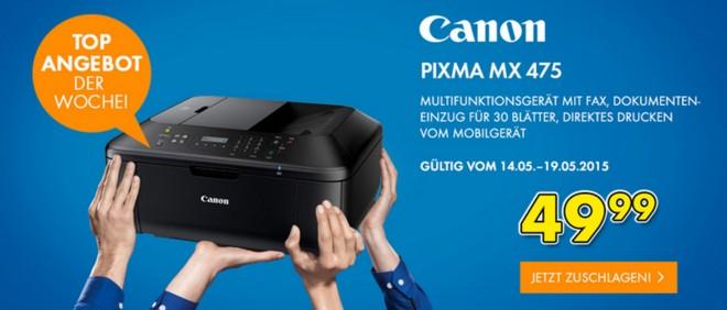 Euronics Donnerstagsangebot ab 14.5.2015: Canon Multifunktionsdrucker