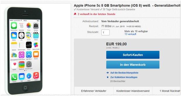 iPhone 5C als B-Ware für 199 €