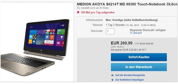 Medion Akoya Convertible S6214T