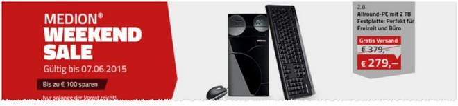 Medion Weekend Sale ab 5.6.2015