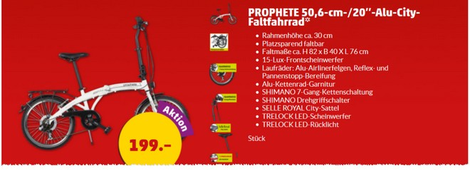 Prophete Alu-City-Faltrad