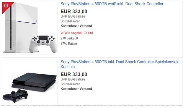 PS in Weiß oder Schwarz für 333 €