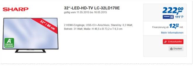 Sharp LC-32LD170E