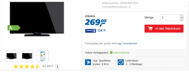 Telefunken D39F275N3 als Real-Angebot