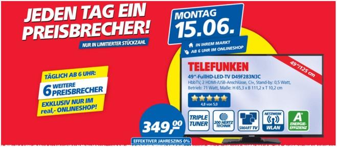Telefunken D49F283N3C als Real Preisbrecher