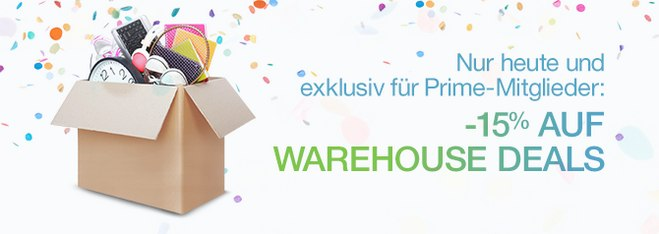 Warehouse Deals Rabatt: 15% extra am Amazon Prime Day