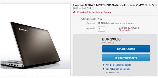 Lenovo M30-70 (MCF3HGE)