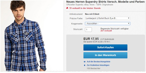 Superdry Herren Hemden