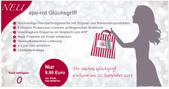Apo-Rot Glücksgriff September 2015