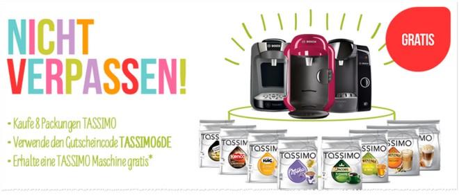 Bosch Tassimo Angebot mit gratis Kapselmaschine