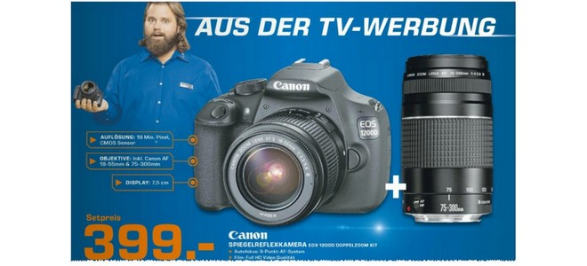 Canon EOS 1200D als Kit mit 2 Objektiven bei Saturn