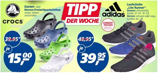 Crocs Classic Beach-Sandalen für 15 € als Real-Tipp der Woche ab 10.8.2015
