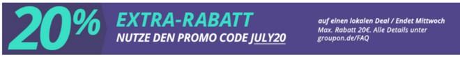 Groupon Extra-Rabattcode im Juli 2015