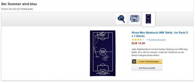 Nivea Men Badetuch mit WM Taktik gratis