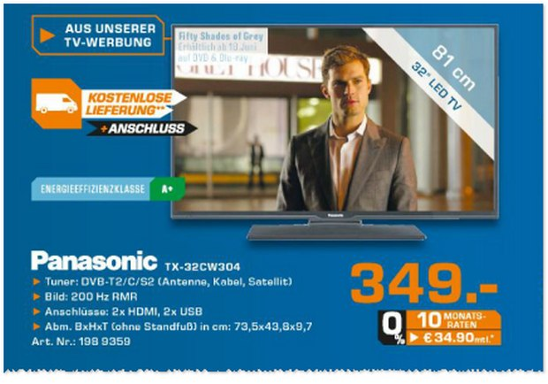 Panasonic TX-32CW304 aus der Saturn-Werbung für 349 €