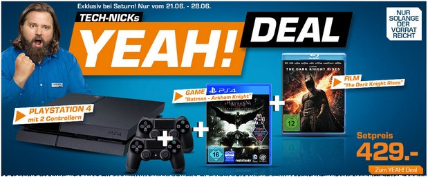 PlayStation 4 aus Tech-Nicks Yeah! Deal mit Batman-Set für 429 €