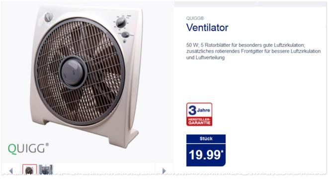 quigg ventilator als aldi nord angebot ab 11. Black Bedroom Furniture Sets. Home Design Ideas