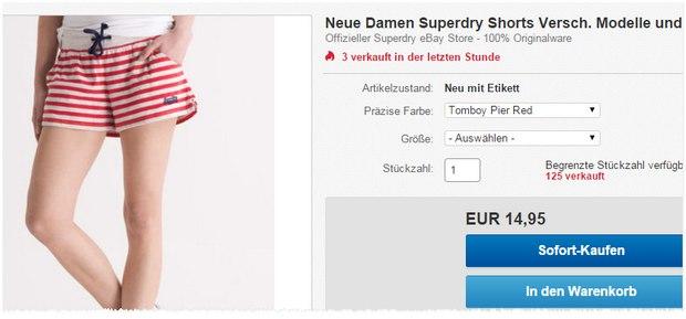 Superdry Shorts & Pants für 14,95 €