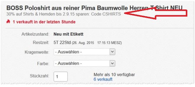 Avantime eBay-Gutschein