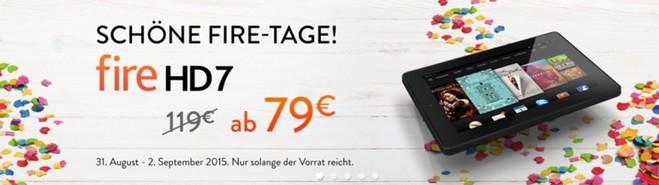 Kindle Fire Tage mit HD 7 günstiger
