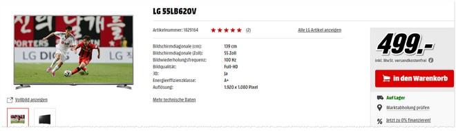 LG 55LB620V bei Media Markt