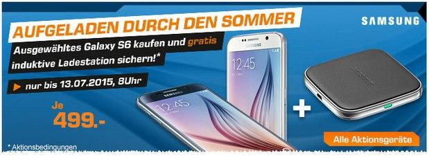 Samsung Galaxy S6 + Ladestation bei Saturn für 499 €