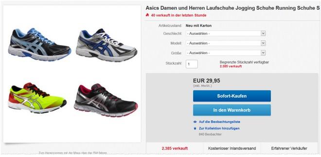 Asics Patriot Laufschuhe bei eBay als Angebot