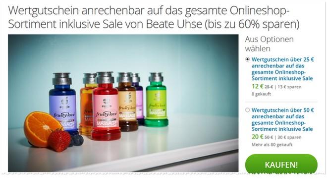 Beate Uhse Gutschein für den Online Shop