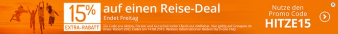 Groupon Reisen: Extra-Rabatt-Gutschein