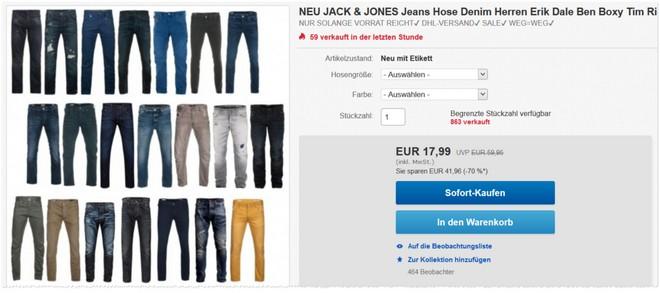 Jack & Jones Heren Jeans als eBay-Angebot