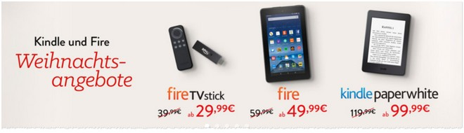 Kindle Fire für 49,99 €