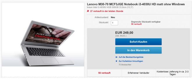 Lenovo M30-70 im Angebot