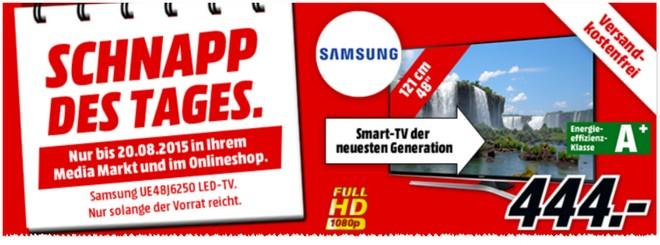 Media Markt Schnapp des Tages Werbung vom 20.8.2015