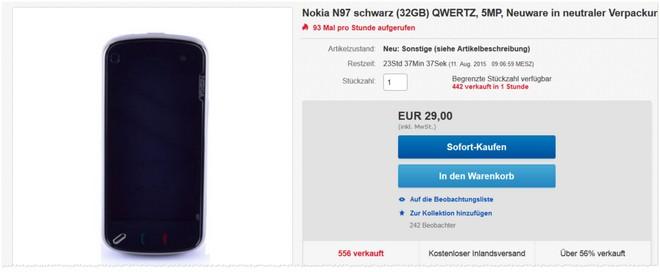 Nokia N97 ohne Vertrag